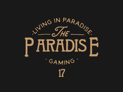 Living In Paradise Vintage Label image